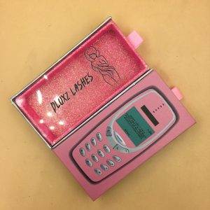pink phone Lash Packaging boxes