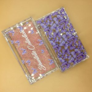 Purple butterfly packing box