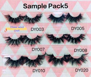 eyelash sample pack orders