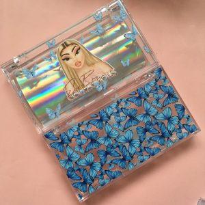 Blue Custom Eyelash Packaging Boxes
