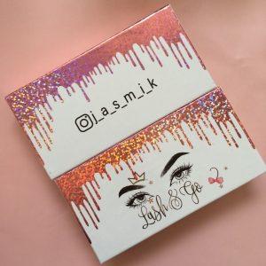 Pink Driping Custom Eyelash Cases