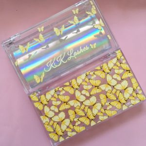 Yellow Butterly Custom Lash Boxes