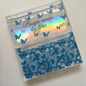 Blue Butterly lash packaging boxes