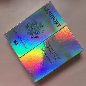 Holographic Custom Eyelash Packaging Boxes
