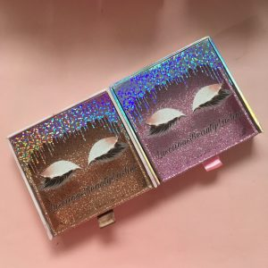 Dripping Drower Custom Eyelash Packaging Boxes