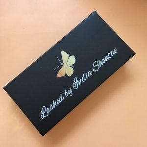 Black Custom Eyelash Packaging Boxes