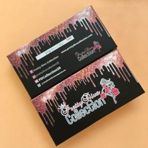 Black Driping Custom Eyelash Packaging Boxes